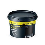 Peinture résistante murs boiseries et métal GoodHome noir Liberty satin 2,5L +20%