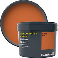 Peinture résistante murs, boiseries et métal GoodHome orange Aravaca mat 2,5L
