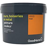 Peinture résistante murs, boiseries et métal GoodHome orange Valencia mat 2,5L