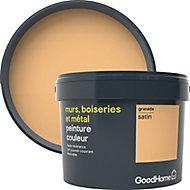 Peinture résistante murs, boiseries et métal GoodHome orangeGranada satin 2,5L