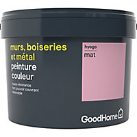 Peinture résistante murs, boiseries et métal GoodHome rose Hyogo mat 2,5L
