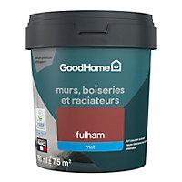 Peinture résistante murs, boiseries et métal GoodHome rouge Fulham mat 0,75L