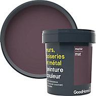Peinture résistante murs, boiseries et métal GoodHome rouge Mayfair mat 0,75L