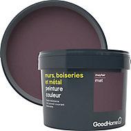 Peinture résistante murs, boiseries et métal GoodHome rouge Mayfair mat 2,5L