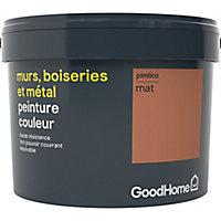 Peinture résistante murs, boiseries et métal GoodHome rouge Pimlico mat 2,5L