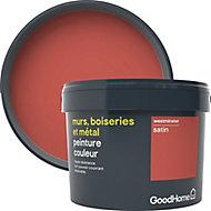 Peinture résistante murs, boiseries et métal GoodHome rouge Westminster satin 2,5L