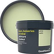 Peinture résistante murs, boiseries et métal GoodHome vert Galway satin 2,5L