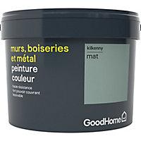 Peinture résistante murs, boiseries et métal GoodHome vert Kilkenny mat 2,5L