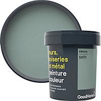Peinture résistante murs, boiseries et métal GoodHome vert Kilkenny satin 0,75L