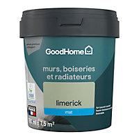 Peinture résistante murs, boiseries et métal GoodHome vert Limerick mat 0,75L
