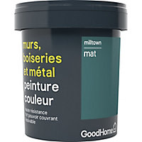Peinture résistante murs, boiseries et métal GoodHome vert Milltown mat 0,75L