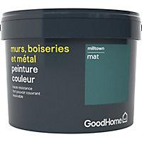 Peinture résistante murs, boiseries et métal GoodHome vert Milltown mat 2,5L