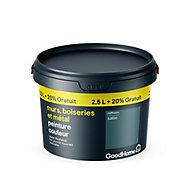 Peinture résistante murs boiseries et métal GoodHome vert Milltown satin 2,5L +20%