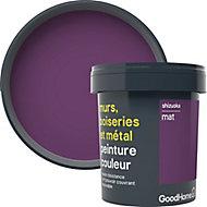 Peinture résistante murs, boiseries et métal GoodHome violet Shizuoka mat 0,75L