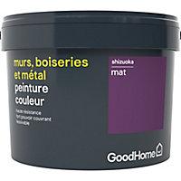 Peinture résistante murs, boiseries et métal GoodHome violet Shizuoka mat 2,5L