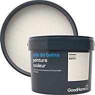 Peinture salle de bains GoodHome blanc Ottawa satin 2,5L