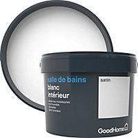 Peinture salle de bains GoodHome blanc satin 2,5L
