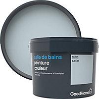 Peinture salle de bains GoodHome bleu Toulon satin 2,5L