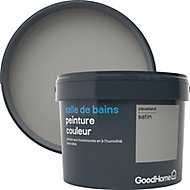 Peinture salle de bains GoodHome gris Cleveland satin 2,5L