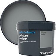 Peinture salle de bains GoodHome gris Delaware satin 2,5L