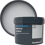 Peinture salle de bains GoodHome gris Melville satin 2,5L