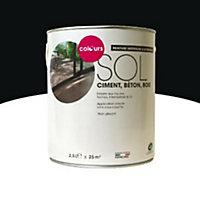 Peinture sol intérieur/extérieur Colours noir satin 2,5L