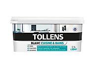 Peinture Tollens cuisine et salle de bains blanc satin 2,5L