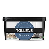 Peinture Tollens premium murs, boiseries et radiateurs blue jean satin 2,5L
