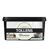 Peinture Tollens premium murs, boiseries et radiateurs clair de lune satin 2,5L