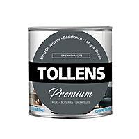 Peinture Tollens premium murs, boiseries et radiateurs gris anthracite mat 0,75L