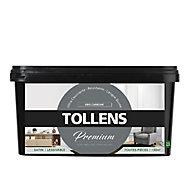 Peinture Tollens premium murs, boiseries et radiateurs gris carbone satin 2,5L