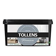 Peinture Tollens premium murs, boiseries et radiateurs gris moyen satin 2,5L