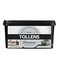 Peinture Tollens premium murs, boiseries et radiateurs gris tendre satin 2,5L
