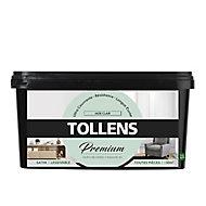 Peinture Tollens premium murs, boiseries et radiateurs jade clair satin 2,5L