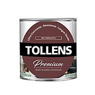 Peinture Tollens premium murs, boiseries et radiateurs néo terracotta satin 0,75L