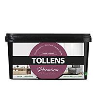 Peinture Tollens premium murs, boiseries et radiateurs pensée pourpre satin 2,5L