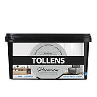 Peinture Tollens premium murs, boiseries et radiateurs reflets gris mat 2,5L