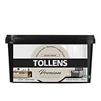 Peinture Tollens premium murs, boiseries et radiateurs sésame torréfié satin 2,5L