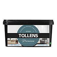 Peinture Tollens premium murs, boiseries et radiateurs vert design mat 2,5L