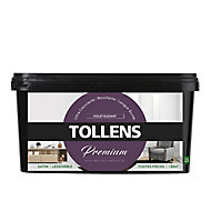 Peinture Tollens premium murs, boiseries et radiateurs violet élégant satin 2,5L