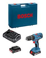 Perceuse à percussion sans fil Bosch Bleu GSB 18V-21 & 25 embouts de vissage