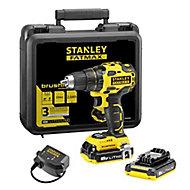 Perceuse visseuse sans fil brushless Stanley Fatmax MCD607D2K 18V-2x2Ah