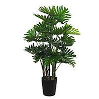 Philodendron artificiel en pot plastique vert ø80 x h.120 cm