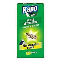 Pièges à mites pour vêtement Kapo vert (x 2)