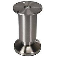 Pied ajustable Diall ø38 x 100-118 mm aluminium