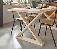Pied de table bois brut L.79 x h.74 cm