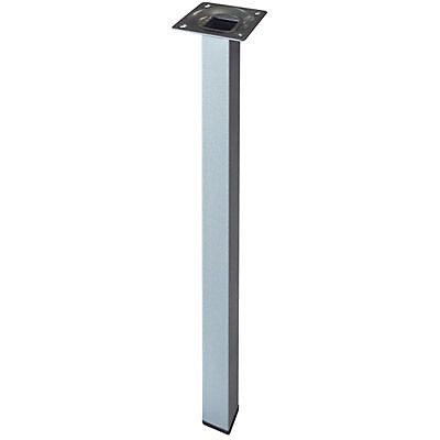 pied de table diall 25 x 25 x h 800 mm gris carre
