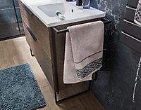 Pied porte-serviettes en métal noir Urban