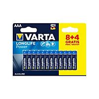 Pile alcaline Varta Long-life Power AAA-LR03 - Pack de 12