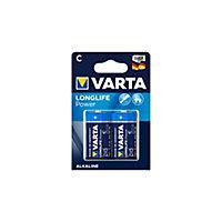 Pile alcaline Varta Long-life Power C - LR14, lot de 2